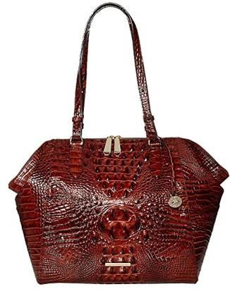 Brahmin Melbourne Medium Camila Tote (Pecan) Tote Handbags