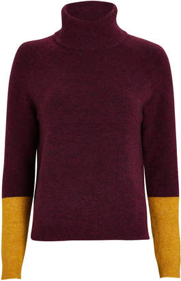 Parrish Lisi Colorblocked Turtleneck Sweater