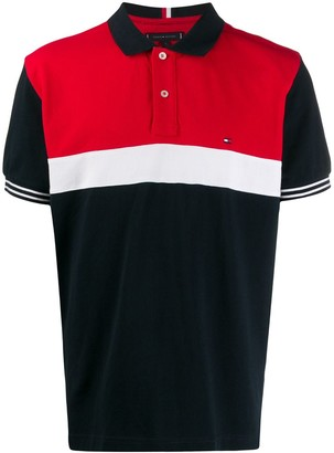 Tommy Hilfiger colour block polo shirt