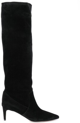 RED Valentino RED(V) suede knee-high boots