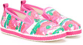 Mi Mi Sol - printed espadrilles - kids - Pig Leather/Satin/cotton/rubber - 27