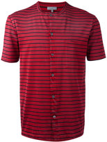 Lanvin striped button-down t-shirt - men - Cotton - XS