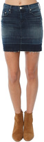 Mother Undone Hem Mini Skirt