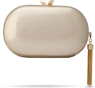 Olga Berg Medusa Metallic Clutch