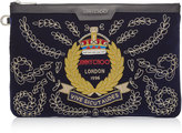 DEREK Official Navy Velvet Document Holder with Badge Embroidery