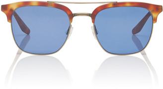 Barton Perreira Exclusive Lenox Havana D-Frame Metal Sunglasses