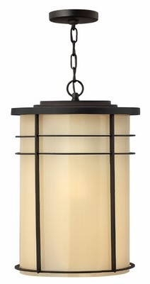 Ledgewood 1 - Light Outdoor Hanging Lantern Hinkley Finish: Museum Bronze, Bulb Type: Energy Saving Fluorescent