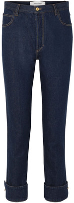 Marques Almeida Ring-embellished High-rise Straight-leg Jeans