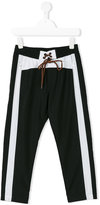 MSGM contrast stripe sporty trousers - kids - Polyester - 4 yrs