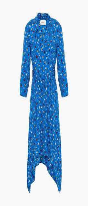 BA&SH Lilia Gathered Floral-print Crepe Dress