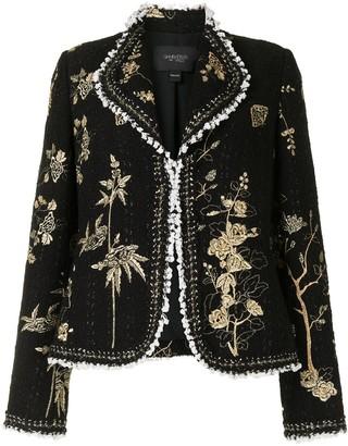 Giambattista Valli Floral-Embroidered Boucle Jacket