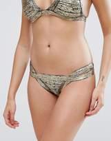 PrettyLittleThing Metallic Bandage Bikini Bottoms