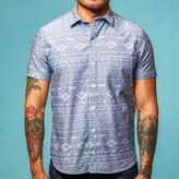 Blade + Blue Southwest Print Chambray Short Sleeve Shirt - 'Go West'