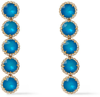 Elizabeth Cole 24-karat Gold-plated, Crystal And Glass Earrings