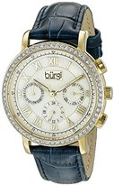 Burgi Women's BUR087BU Analog Display Swiss Quartz Blue Watch