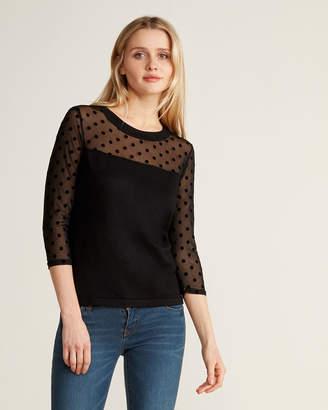 Andrea Jovine Dotted Illusion Crew Neck Sweater