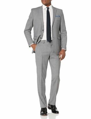 Original Penguin Men's Slim fit 2pc Suit with Finished Bottom Hem