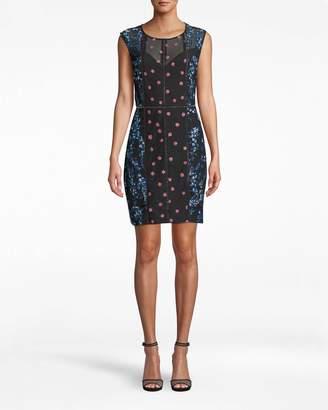 Nicole Miller Blossom Embellished Sheath Dress