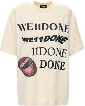 we11done Logo Print Cotton T-Shirt