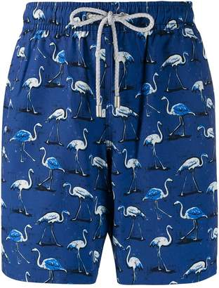 Bluemint Eclipse Flamingo print swim shorts