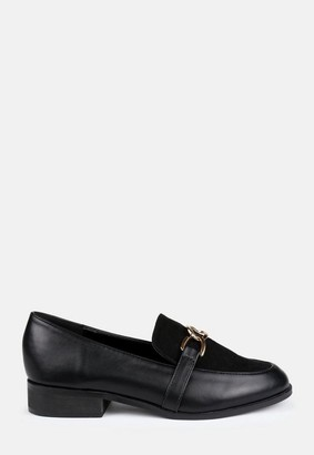 Missguided Faux Suede Panel Link Loafers