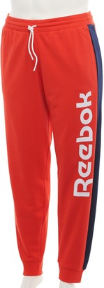 Reebok Plus Size Training Essentials French Terry Linear Logo Pants