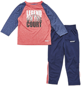 Red Heat Heather 'Legend on the Court' Tee & Pants - Toddler