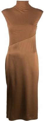 Theory Panelled High-Neck Midi Dress
