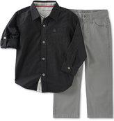 Calvin Klein Baby Boys' 2-Pk. Striped Shirt & Pants Set