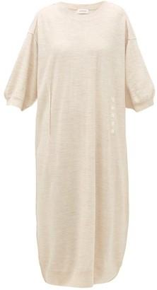 Lemaire Merino-blend Midi Dress - Womens - Cream