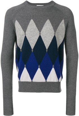 Ballantyne argyle pattern jumper