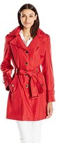 Calvin Klein Women's Single-Breasted Classic Trench Coat