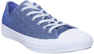 Converse All Star Low Trainers Ozone Blue Light Skye Blue Starware
