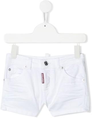 DSQUARED2 Logo Patch Denim Shorts