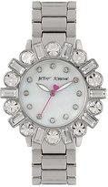 Betsey Johnson Bedazzle Beauty Silver Watch