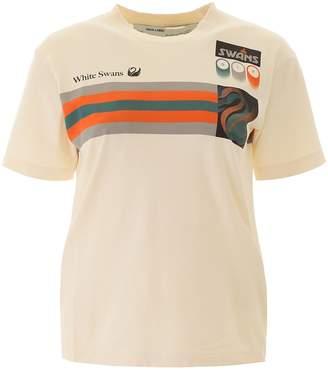 Off-White White Swan Logo Print Crewneck T-Shirt