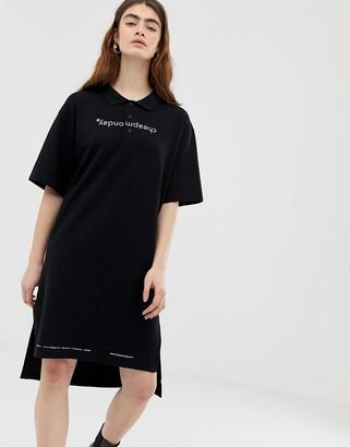 Cheap Monday organic cotton polo dress with logo print
