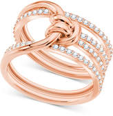 Swarovski Crystal Knot Multi-Row Ring