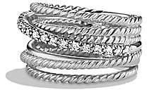David Yurman Women's Crossover Wide Ring with Diamonds