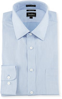 Neiman Marcus Trim-Fit Printed Dress Shirt, Blue