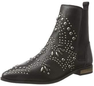 Ichi Women's A MOA FW Slip Boots, Schwarz (Black)