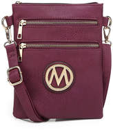 Mkf Collection By Mia K. MKF Collection by Mia K. Women's Handbags Purple - Purple Medina Double Zip Crossbody Bag