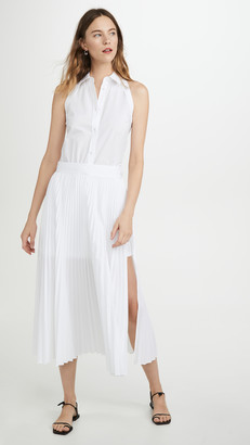 Helmut Lang Cotton Pleated Dress
