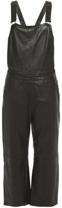 Muu Baa Muubaa Dorian Cropped Leather Overalls
