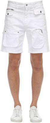 Department Five Multi-Pocket Cotton Denim Shorts