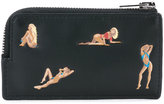 Alexander Wang pin-up print cardholder - men - Calf Leather - One Size