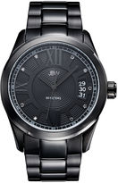 JBW Bond Mens Diamond-Accent Black Stainless Steel Watch J6311D
