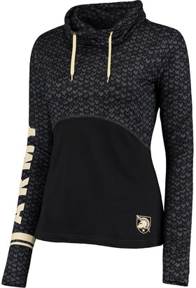 Colosseum Women's Black Army Black Knights Scaled Cowl Neck Pullover Hoodie