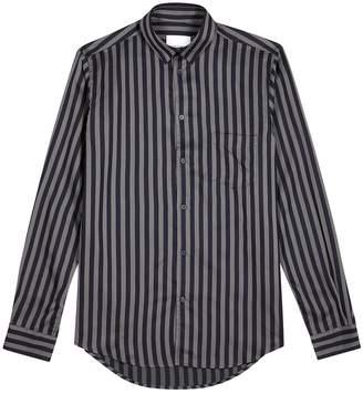 Samsoe & Samsoe Samse & Samse Liam Blue And Grey Striped Shirt