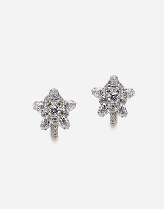Dolce & Gabbana Primavera Earrings In White Gold With Diamonds